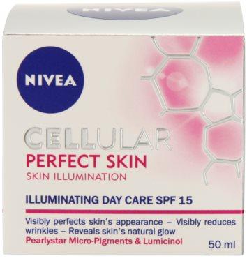 Nivea Cellular Perfect Skin crema iluminadora de día SPF 15 3