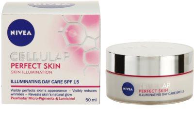 Nivea Cellular Perfect Skin crema iluminadora de día SPF 15 4