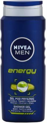Nivea Men Energy гель для душу для обличчя, тіла та волосся