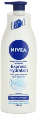 Nivea Express Hydration könnyű testápoló krém normál és száraz bőrre