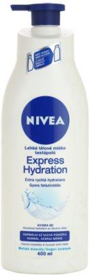 Nivea Express Hydration lekkie mleczko do ciała do skóry normalnej i suchej