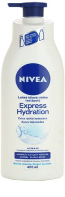 Nivea Express Hydration легке молочко для тіла для нормальної та сухої шкіри