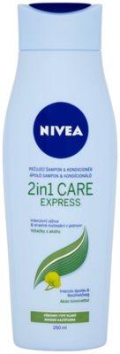 Nivea 2in1 Care Express Protect & Moisture šampon in balzam 2 v1 za vse tipe las