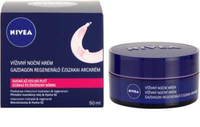 Nivea Face crema de noche nutritiva  para pieles secas y sensibles 2