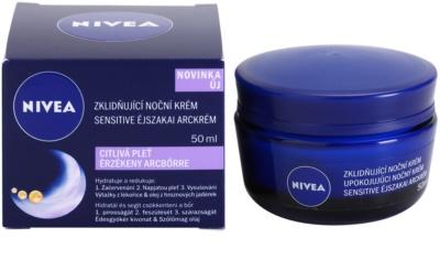 Nivea Face нічний заспокоюючий крем для чутливої шкіри 2