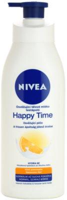 Nivea Happy Time osvěžujúce telové mlieko pre normálnu a suchú pokožku