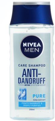 Nivea Men Pure шампоан против пърхот за нормална към омазняваща се коса