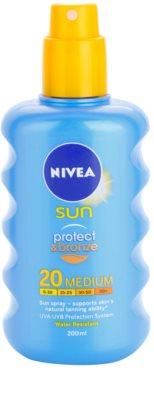 Nivea Sun Protect & Bronze інтенсивний спрей для засмаги SPF 20 1