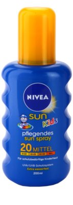 Nivea Sun Kids buntes Bräunungsspray für Kinder SPF 20