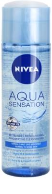 Nivea Visage Aqua Sensation Reinigungsgel  für normale Haut und Mischhaut