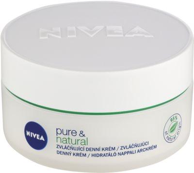 Nivea Visage Pure & Natural crema de día suavizante para pieles normales y mixtas