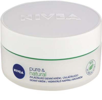 Nivea Visage Pure & Natural зволожуючий денний крем для нормальної та змішаної шкіри