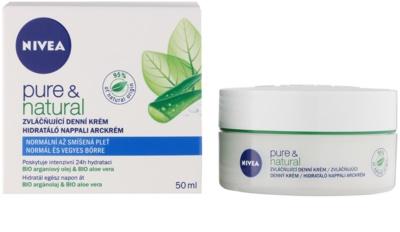 Nivea Visage Pure & Natural vlažilna dnevna krema za normalno do mešano kožo 1