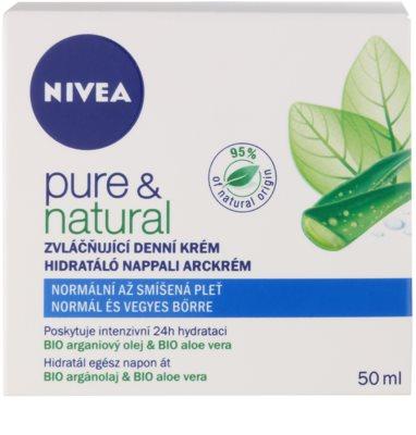 Nivea Visage Pure & Natural vlažilna dnevna krema za normalno do mešano kožo 2