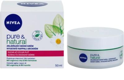 Nivea Visage Pure & Natural заспокоюючий денний крем для сухої шкіри 1