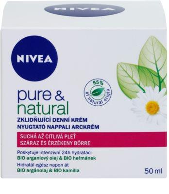 Nivea Visage Pure & Natural заспокоюючий денний крем для сухої шкіри 2
