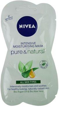 Nivea Visage Pure & Natural máscara facial hidratante