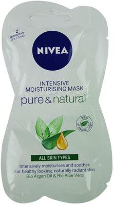 Nivea Visage Pure & Natural vlažilna maska za obraz