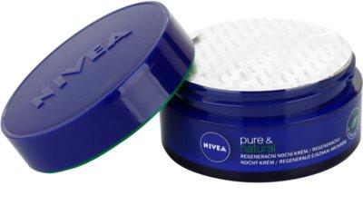 Nivea Visage Pure & Natural creme de noite regenerador  para todos os tipos de pele 1