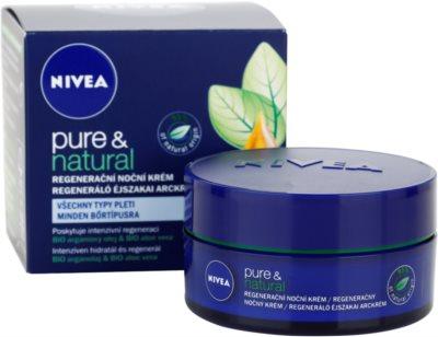 Nivea Visage Pure & Natural creme de noite regenerador  para todos os tipos de pele 2