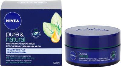 Nivea Visage Pure & Natural creme de noite regenerador  para todos os tipos de pele 3