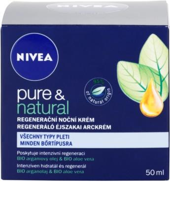 Nivea Visage Pure & Natural creme de noite regenerador  para todos os tipos de pele 4