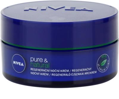 Nivea Visage Pure & Natural регенериращ нощен крем за всички типове кожа на лицето