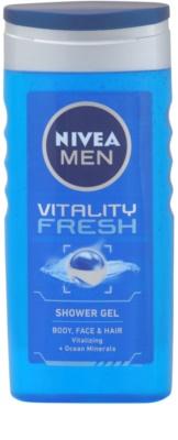 Nivea Men Vitality Fresh gel de ducha de cabello y cuerpo