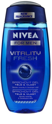 Nivea Men Vitality Fresh gel de ducha de cabello y cuerpo 1