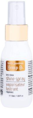 North American Hemp Co. Let it Shine óleo em spray para cabelo brilhante e macio