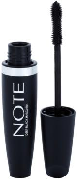 NOTE Cosmetics Deep Black máscara de pestañas alargadora con vitamina E