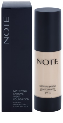 NOTE Cosmetics Mattifying Extreme maquillaje matificante SPF 15 2