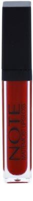 NOTE Cosmetics Mattemoist Lip Gloss mat cu vitamina E