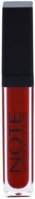 NOTE Cosmetics Mattemoist гланц за устни с матиращ ефект с витамин Е