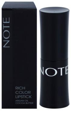 NOTE Cosmetics Rich Color rtěnka s arganovým olejem 2