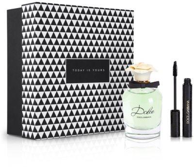 Notino Dúo inseparable fragancia fresca y femenina para mujeres creativas + máscara de pestañas para dar volumen rica en pigmentos color negro