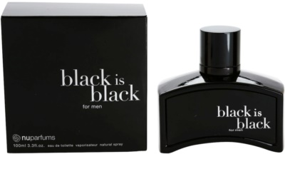 Nuparfums Black Is Black Eau de Toilette para homens