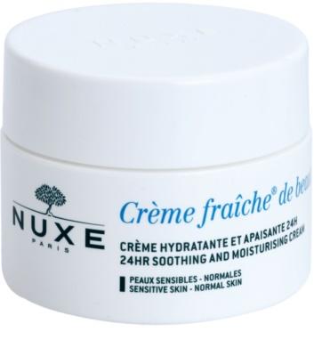 Nuxe Creme Fraîche de Beauté crema calmanta si hidratanta pentru piele normala predispusa la iritatii