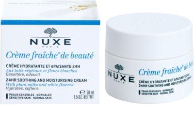 Nuxe Creme Fraîche de Beauté crema calmanta si hidratanta pentru piele normala predispusa la iritatii 1