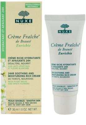 Nuxe Creme Fraîche de Beauté beruhigende und hydratisierende Creme für trockene bis sehr trockene Haut 1