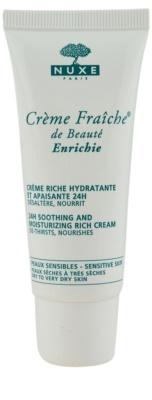 Nuxe Creme Fraîche de Beauté beruhigende und hydratisierende Creme für trockene bis sehr trockene Haut