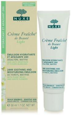Nuxe Creme Fraîche de Beauté успокояваща и хидратираща емулсия за смесена кожа 1