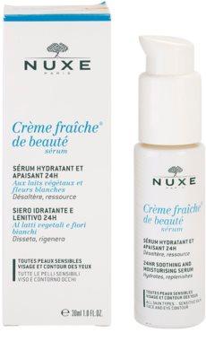 Nuxe Creme Fraîche de Beauté serum hidratante y calmante apto para pieles sensibles 1