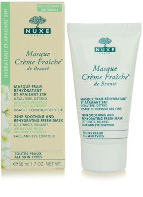 Nuxe Creme Fraîche de Beauté nyugtató és hidratáló maszk minden bőrtípusra 3