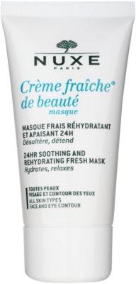 Nuxe Creme Fraîche de Beauté nyugtató és hidratáló maszk minden bőrtípusra