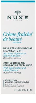 Nuxe Creme Fraîche de Beauté nyugtató és hidratáló maszk minden bőrtípusra 2