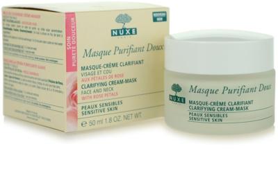 Nuxe Cleansers and Make-up Removers máscara de limpeza para pele sensível 2