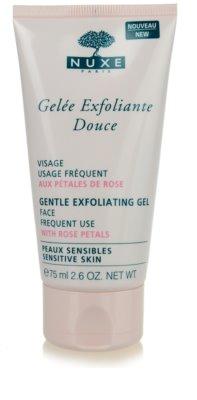 Nuxe Cleansers and Make-up Removers tisztító peeling az érzékeny arcbőrre