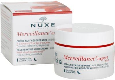 Nuxe Merveillance creme de noite regenerador  para todos os tipos de pele 2