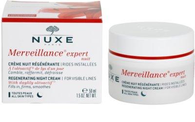 Nuxe Merveillance creme de noite regenerador  para todos os tipos de pele 3